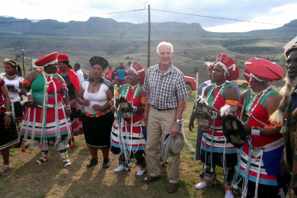 Peter and the Zulu dancers