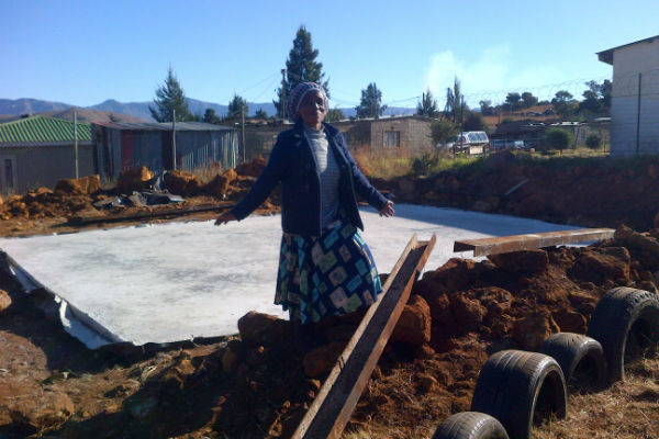 Josaphine is so happy that the new classroom is being built