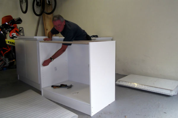 Assembling the Cupboards