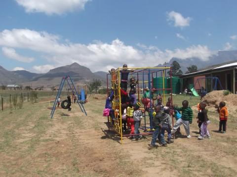 Children enjoying their new Jungle Gyms