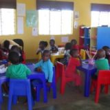 Children in their lovely New Classroom