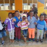 Sbusisiwe Children with new Jerseys