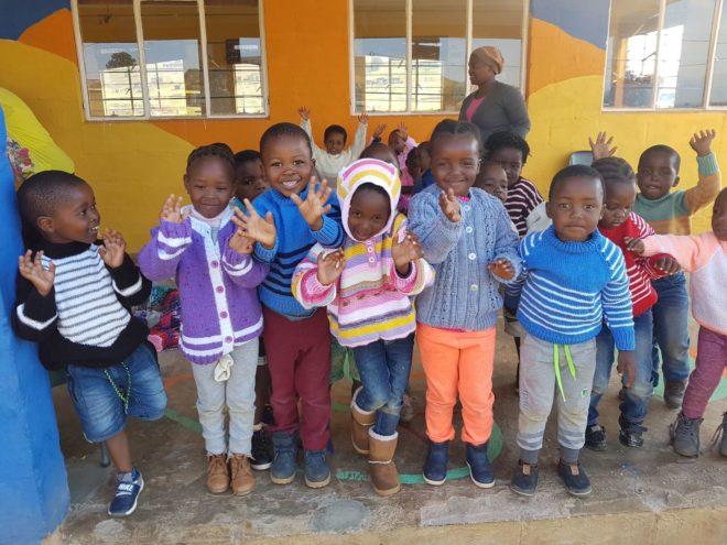 Sbusisiwe Children with new Jerseys