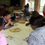 Marysia working with the Teachers