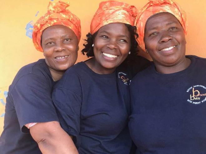 The Amazizi BabyBoost Team. Fikile, Irene & Sibonelelo