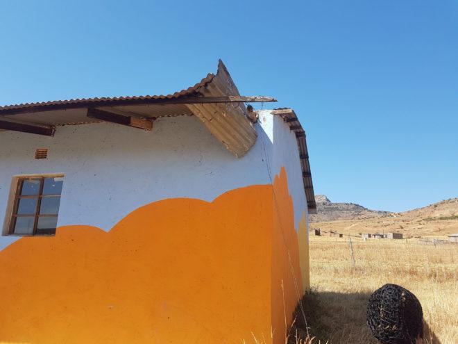 some of Vumelani's roof damaged